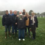 West Buckland Racing Club with Heliums trophy